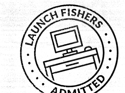 Launch Fishers stamp foxio texture stamp coworking launch fishers