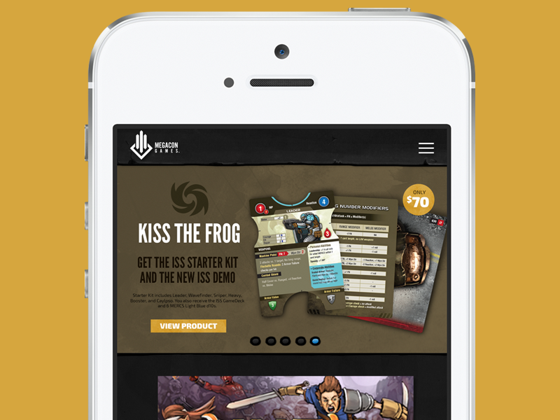 Dribbble megacon mobile