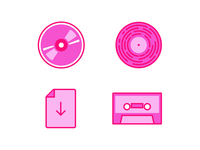 Music Format Icons