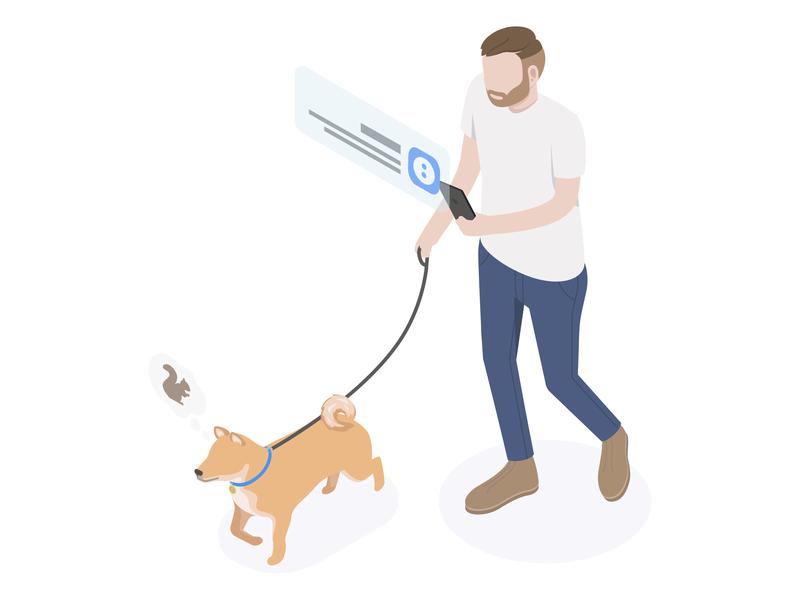 Isometric Illustration Experiment 3 wescribe dog illustration dog isometric illustration isometric illustration