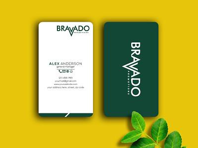 horizontal business card design outstanding unique logo