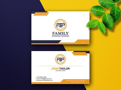 modern business card design outstanding unique logo