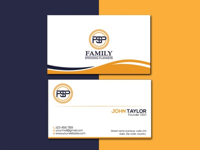 business card design mordern business card