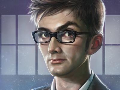 Doctor Who   fan art digital drawings movies tv doctor who david tennant