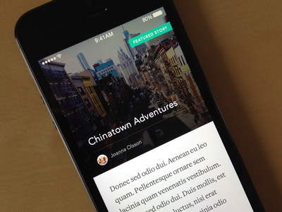 Featured Story featured story avenir awesomeness avatar photo ios app freight text