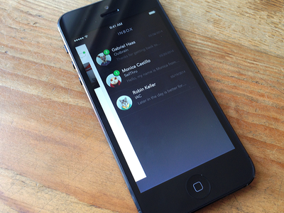 Chat Inbox chat inbox badge avatar photo iphone ios iphone app ios 7
