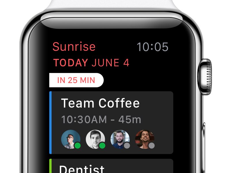 On Your Wrist apple watch yay date time 🔥 events calendar agenda sunrise