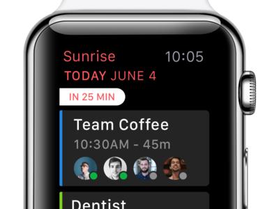 On Your Wrist apple watch yay date time 🔥 events calendar agenda sunrise