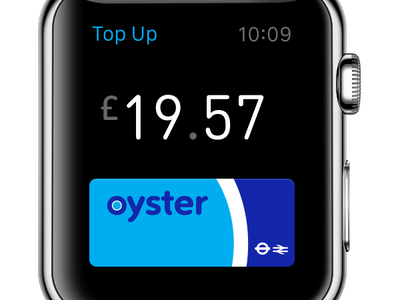 Top Up apple pay apple watch ios phone watch card payment transport oyster