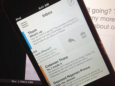 iPhone Mail App (Revised) mail inbox icons minimal ios app iphone app mail app