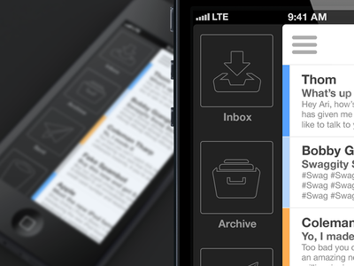 iPhone Mail App v3 mail minimal iphone simple color mail app iphone 5 iphone app flat design