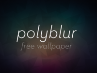 Polyblur Wallpaper