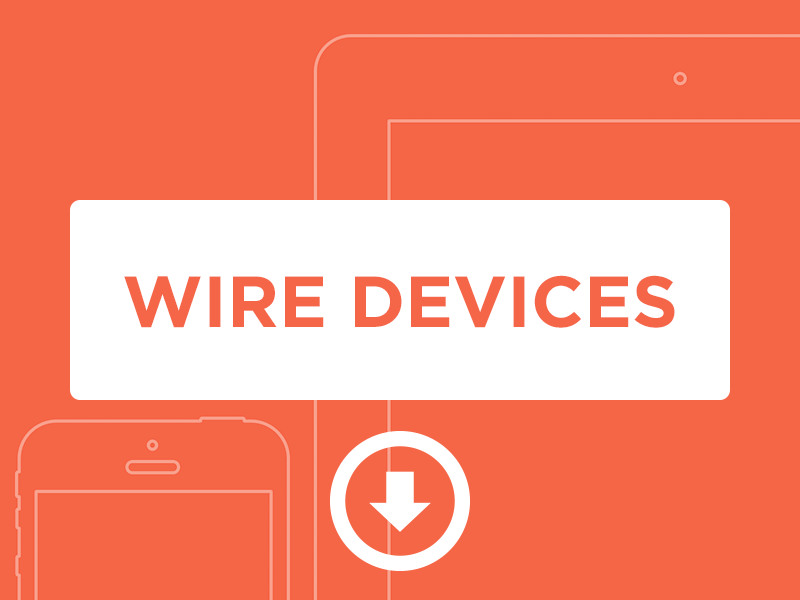 Wire Devices wireframes ios minimalism minimal ios devices flat design