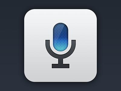 Mic App Icon microphone minimal icon haha woohoo yeaaaahhhh app icon layer styles notflatdesign just for fun