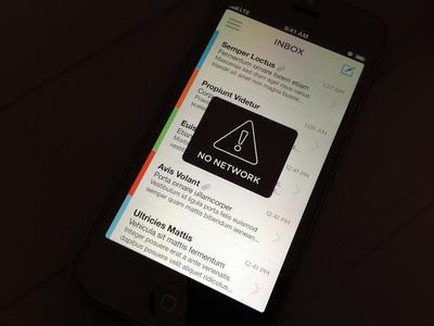 No Network Modal modal alert inbox minimal colorful awesomeness light no network flat design