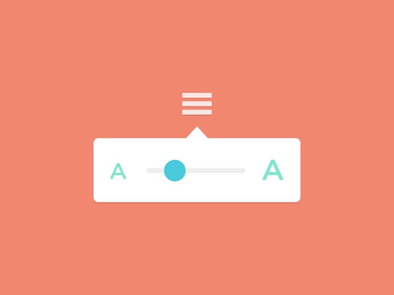 Font Size slider icons minimal awesomeness whatever font size
