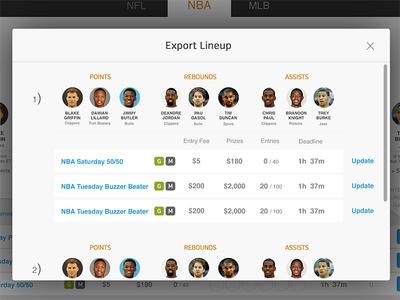 Export Lineup Modal