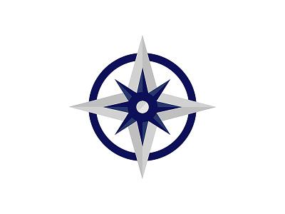 WestOne Logo Symbol logo symbol vector flat shapes compass direction identity