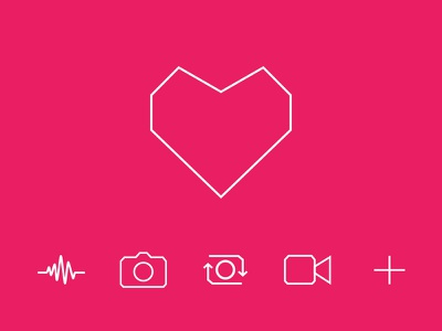 Feature Icons glyph multimedia media photo video ui ux line icons line minimal icons icon