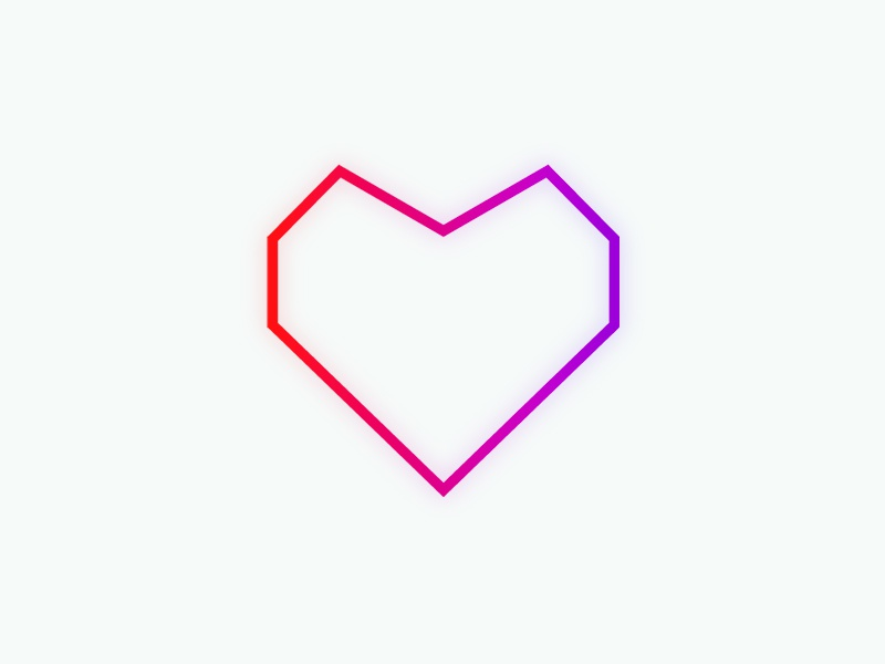 Neon Feature Heart lines icon heart neon