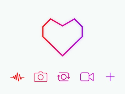 Feature Camera Icons (Neon) audio video photo picture camera pop neon iphone ios app icons icon