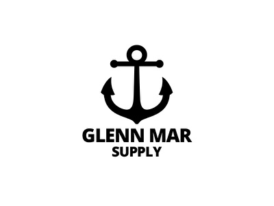 Glenn Mar Logo symbol anchor marine boats shipping logo