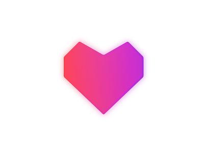 Feature Logo 3d neon symbol gradient heart logo