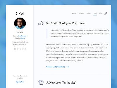 Om Malik Blog writing publishing design ux ui blog