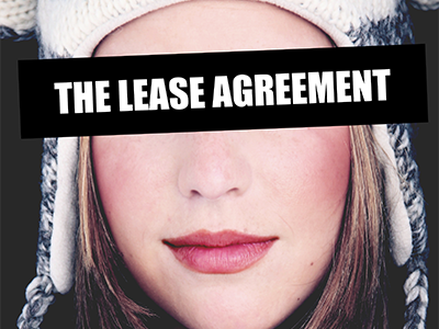 The Lease Agreement logo face censor impact