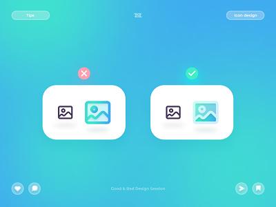 Bad & Good Icon Design ux design ui design uiux design icon design icon graphic design ui