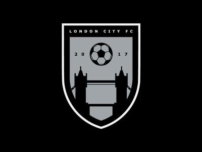 London City FC - Greyscale logos soccer logo soccer badge soccer football badge football shield logo logo design logo