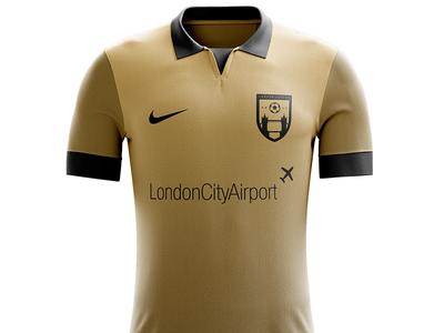 London City FC - Home Kit football kit apparel design kit design logos soccer logo soccer badge soccer football badge football shield logo logo design logo