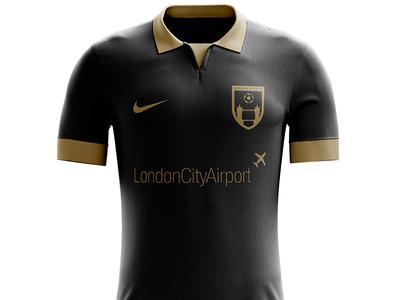 London City FC - Away Kit apparel kit design logos soccer logo soccer badge soccer football badge football shield logo logo design logo