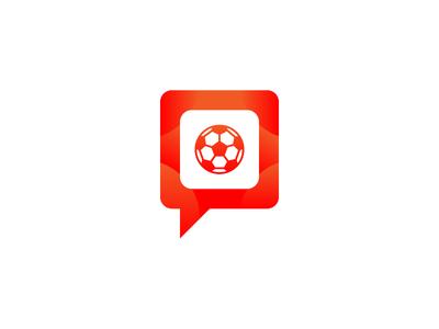 Let's Talk Football branding football icon fantasy football football logo logo design logo
