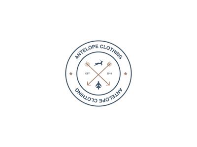 Antelope Clothing - Wild Range Badge branding apparel design clothing design logo design logo