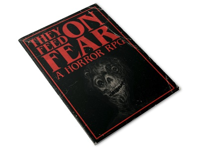 They Feed On Fear: A Horror RPG. (Zine Cover Mock Up) logo logotype type texture distress vector branding design