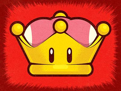 Super Crown Power-Up/Bowsette Meme work alexei graphic design illustrator vella adobe logo conceptual digital texture retro editorial experiment distress personal meme nintendo vector illustration