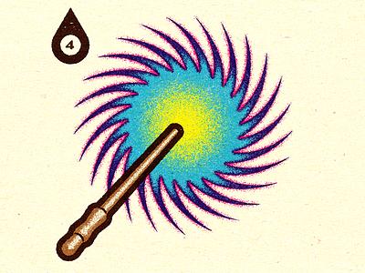 Inktober - Day #4 - Spell print logo progress visual design work graphic illustrator vella alexei digital adobe experiment distress conceptual personal vector illustration texture retro