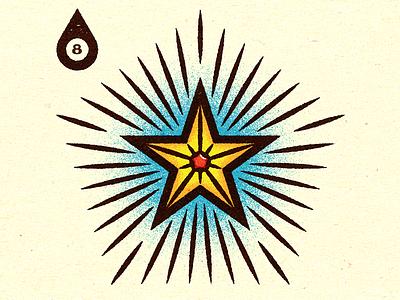 Inktober - Day #8 - Star print logo visual progress work graphic illustrator design vella alexei digital adobe experiment distress conceptual personal vector illustration retro texture
