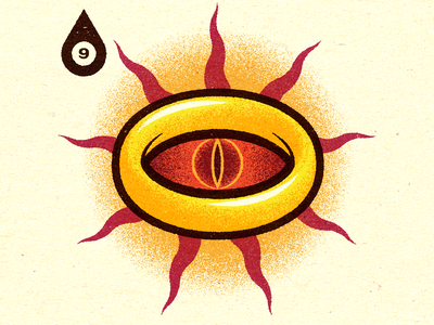 Inktober - Day #9 - Precious. visual print progress logo work graphic illustrator design vella alexei digital adobe experiment distress conceptual personal vector illustration retro texture