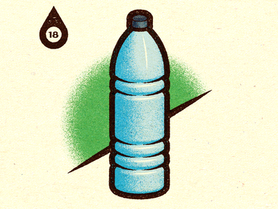 Inktober - Day #18 - Bottle. advertising visual progress work graphic illustrator design vella alexei digital adobe experiment distress conceptual personal editorial vector illustration retro texture