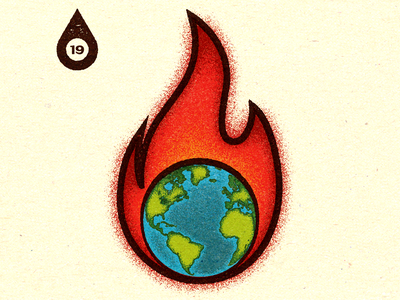 Inktober - Day #19 - Scorched (Earth). visual progress work graphic illustrator design advertising vella alexei digital adobe experiment distress conceptual personal editorial vector retro illustration texture