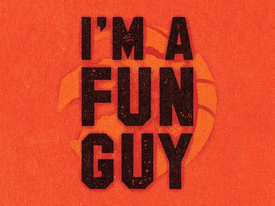 I'M A FUN GUY.⁣ branding logo visual work illustrator graphic vella alexei design digital adobe experiment distress conceptual personal editorial vector illustration retro texture