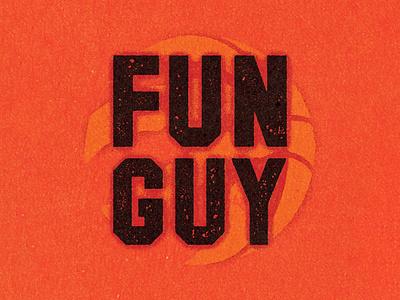 FUN GUY. progress branding graphic illustrator logo design vella client alexei adobe digital distress experiment conceptual personal editorial vector illustration retro texture