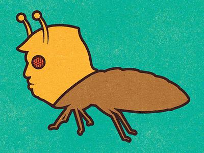 Trump, The Bed Bug! vector alexei vella design digital conceptual personal editorial illustration texture