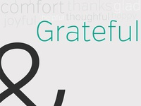 And Im Grateful Poster
