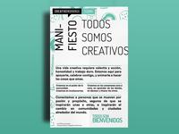 Creative Mornings Tijuana - Manifiesto Poster