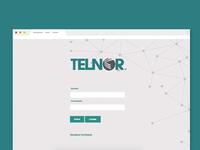 Telnor Login page