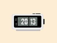 Digital Flip Desk Alarm Clock