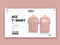 ACC Website Concept Shop Section